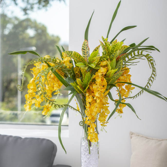 Artificial Orchids - Dancing Lady Orchid Bright Yellow (100cmH)