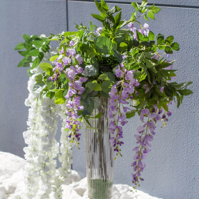 Other Artificial Flowers - Wisteria Spray Purple (142cmH)