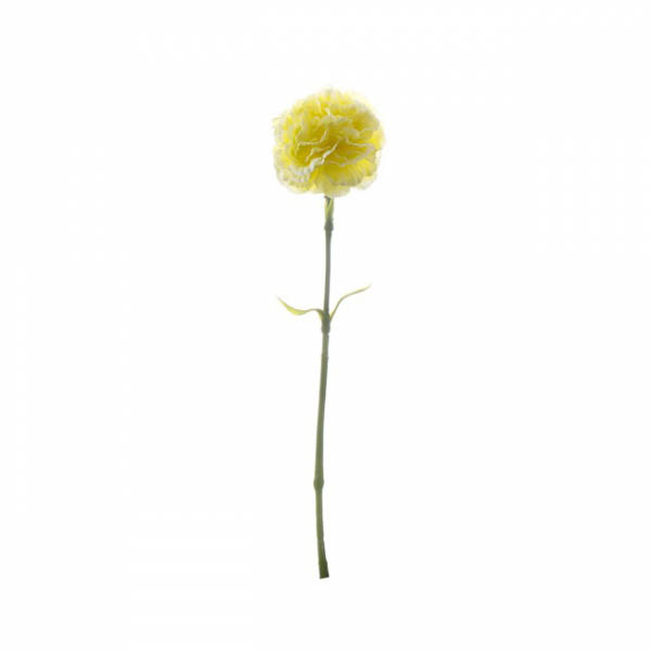 Other Flowers - Carnation Ruffle Stem Yellow (42cmH)
