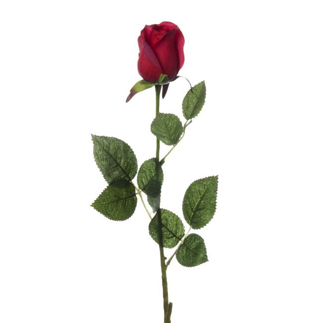 Siena Rose Bud Real Touch Red (73cmH)