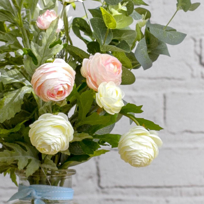 Other Flowers - Petite Ranunculus Spray Cream (42cmH)