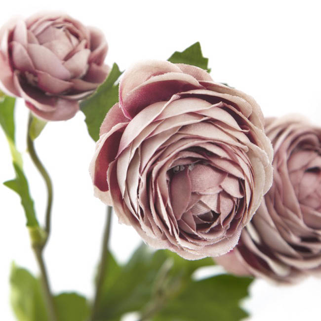 Other Artificial Flowers - Petite Ranunculus Spray Dusty Rose (42cmH)