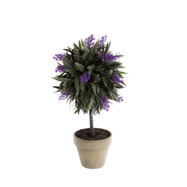 Lavender Potted Topiary Purple (30cmH)