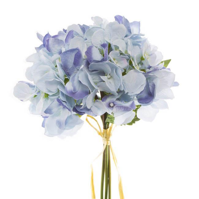 Light Blue Wedding Bouquet Artificial Flower Wedding ... |Light Blue Hydrangea Bouquet