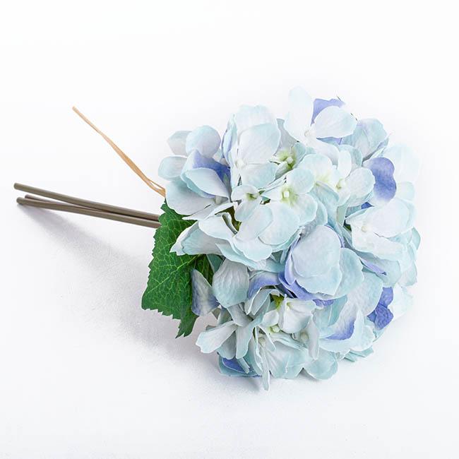 1 Light Blue Hydrangea Bridal Bouquet + 1 boutonniere |Light Blue Hydrangea Bouquet