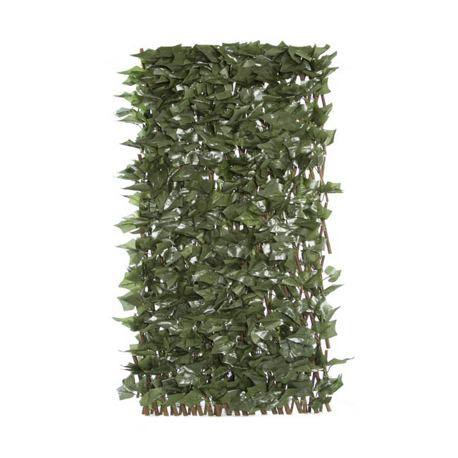 Artificial Greenery Walls - Artificial Ivy Leaf Large Lattice Wall (Expands 1Mt to 2Mt)