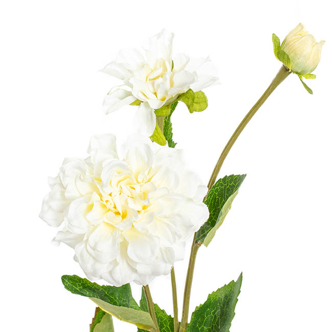 Other Artificial Flowers - Barla Zinnia Spray White  (67cmH)