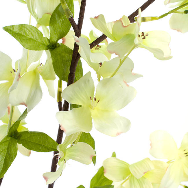 Other Artificial Flowers - Dogwood Flower Spray Light Green (103cmH)