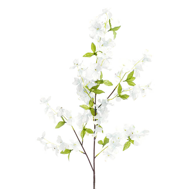 Other Artificial Flowers - Dogwood Flower Spray White (103cmH)