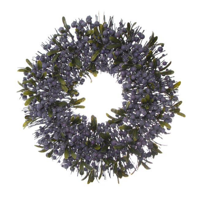 Christmas Wreath - Garden Fresh Berry Wreath Blueberry Blue (45cm)