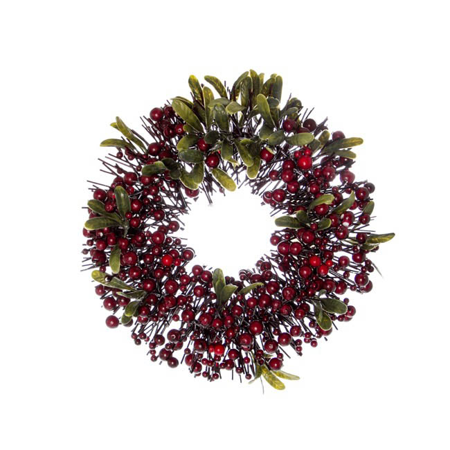 christmas wreath garden fresh christmas candle ring berry fusion red 30cm - Decorative Christmas Candle Rings