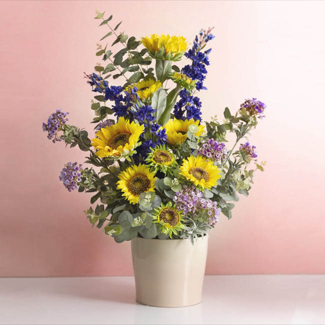 Other Flowers - Sunflower Spray Yellow (88cmH)