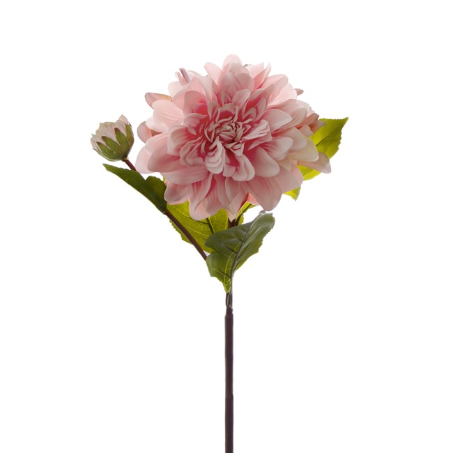 Other Flowers - Dahlia Stem Real Touch Light Pink (53cmH)