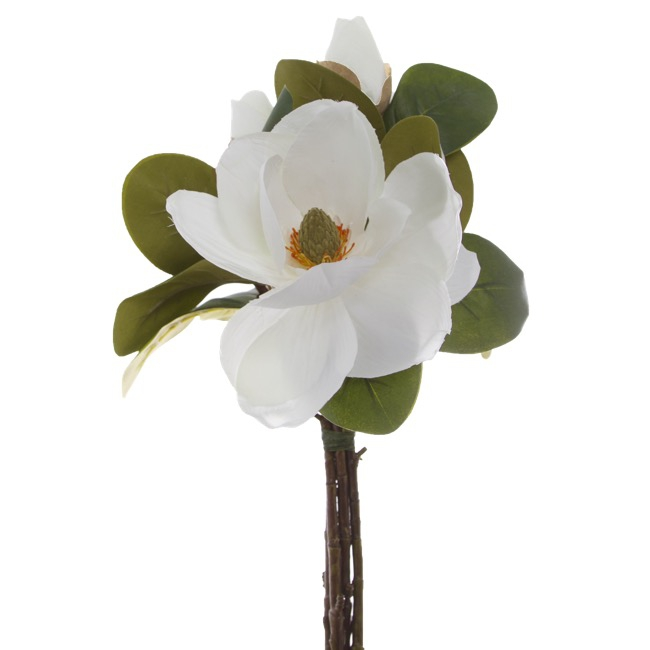 Magnolia Flower Bouquet with Buds White (53cmH)