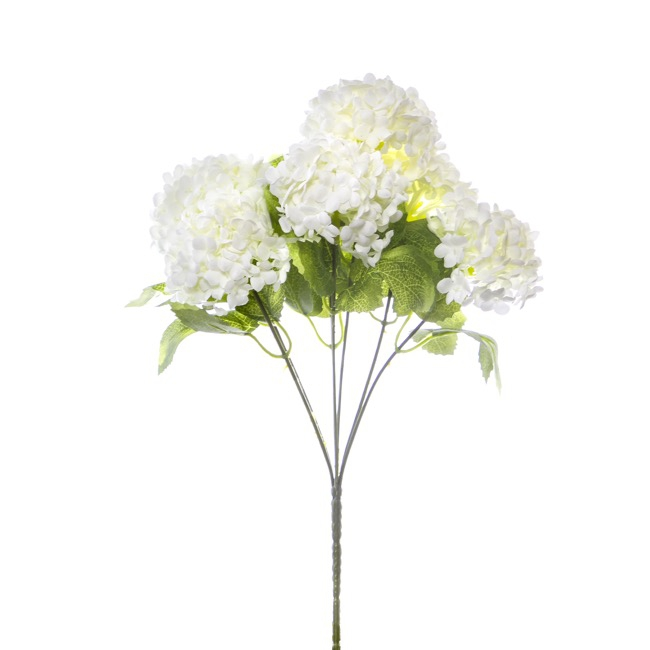 Other Artificial Flowers - Guelder Ball Bunch x7 White (30cm)