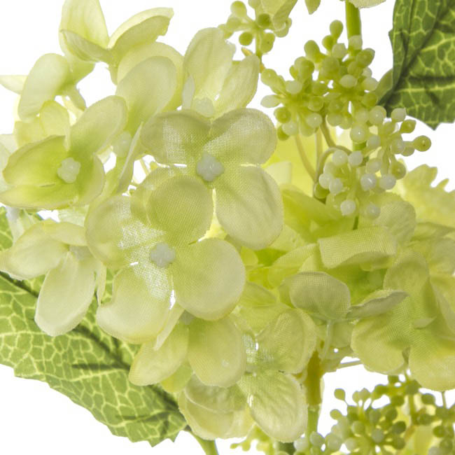 Artificial Hydrangeas - Hydrangea Spray x5 Green (65cm)