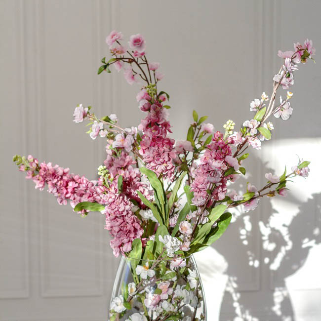 Other Flowers - Peach Blossom Spray White (125cm)