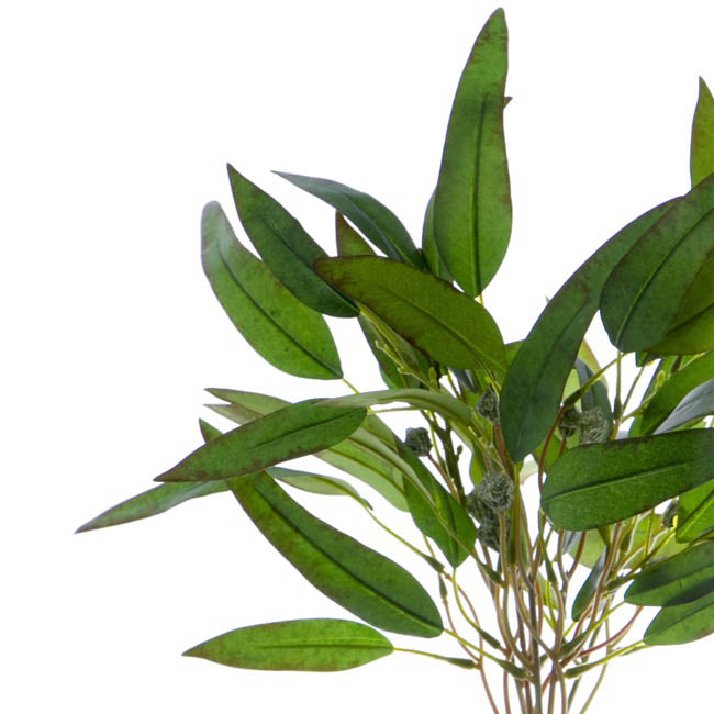 Artificial Leaves - Eucalyptus Willow Leaf Gumnut Bouquet Green (44cmH)