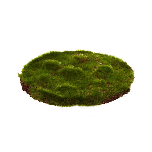 Artificial Moss And Fillers   Artificial Moss Mat Rocky Round Green  (20cmx20cm)