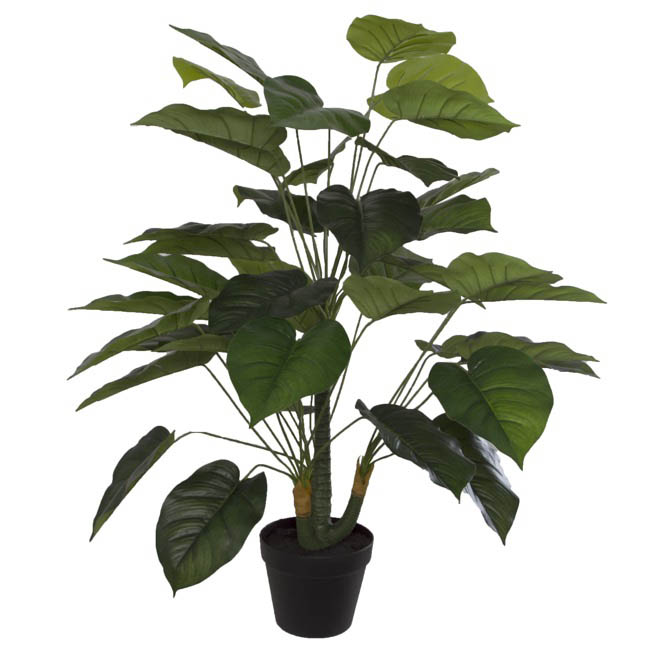 Artificial Plants - Artificial Pothos Potted Plant Real Touch Green (90cmH)