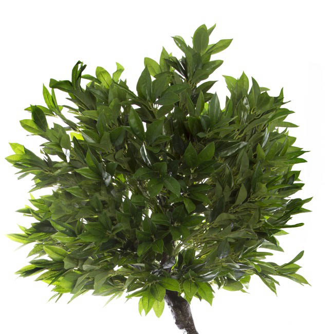 Artificial Trees - Artificial Topiary Tree Laurel Leaf Potted Green (160cmH)