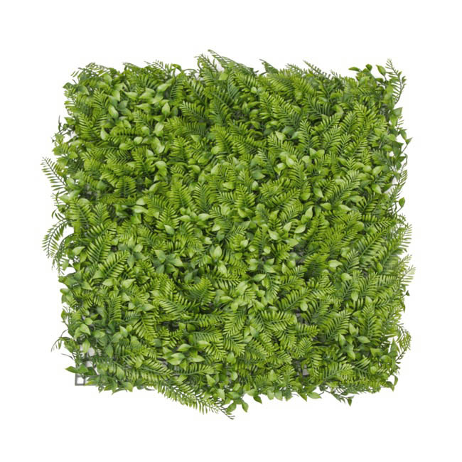 Artificial Greenery Walls - Artificial Fern Leaves Wall Green (50x50cm)