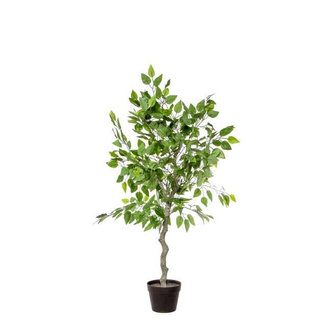 Artificial Trees - Artificial Ficus Tree Potted Green (120cmH)