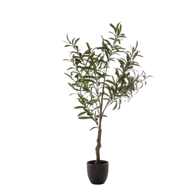 Artificial Trees - Artificial Olive Leaf Tree with Olives (96cm)