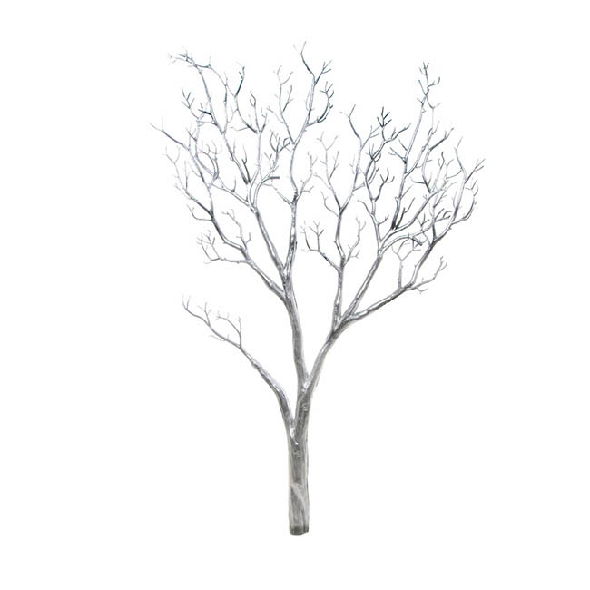 Coral Tree Twisted Branch Silver (96cmH)