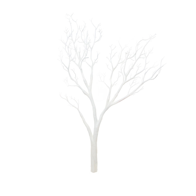 Coral Tree Twisted Branch White (96cmH)