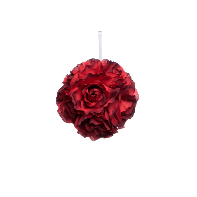 Lavina Rose Ball Red (6in/15cmD)
