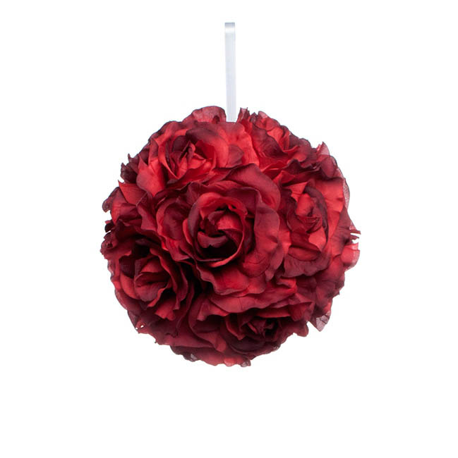 Lavina Rose Ball Red (8in/20cmD)