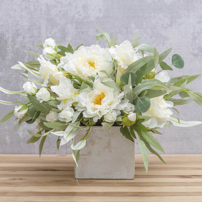 Artificial Peonies - Peony Alicia White (45cmH)