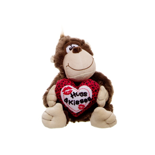 Smooch Monkey Brown with Heart (20cmST)