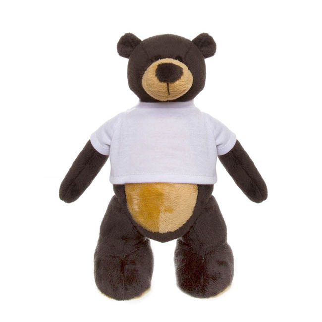 Grizzly Bear with T-Shirt Black (30cmHT)