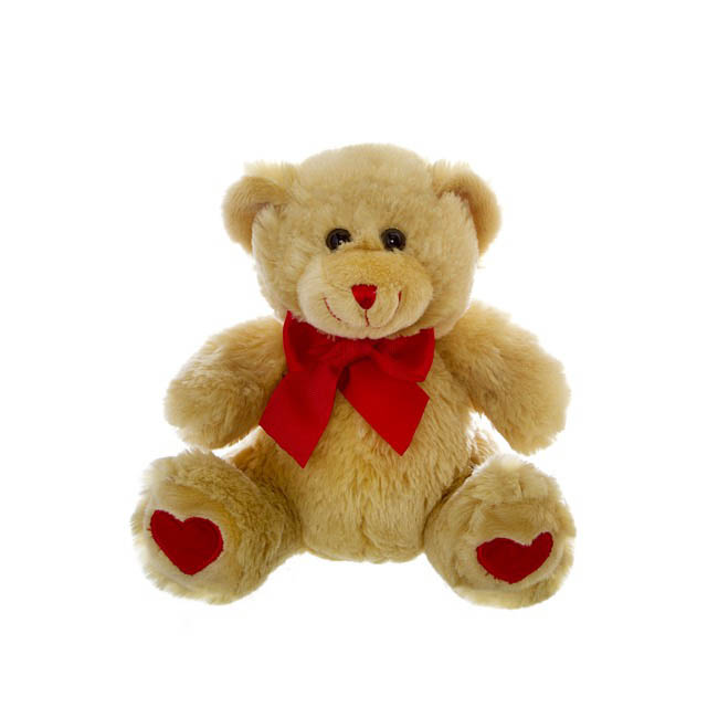 Bobby Valentine Teddy Bear Brown (20cmST)