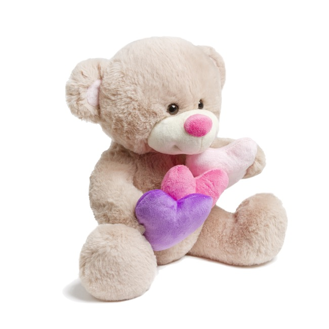 Valentines Teddy Bears - Mia Bear with Holding Hearts (30cmST)