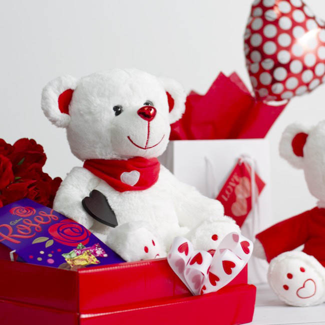 Valentines Teddy Bears - Nikki Bear with Scarf (25cmST)