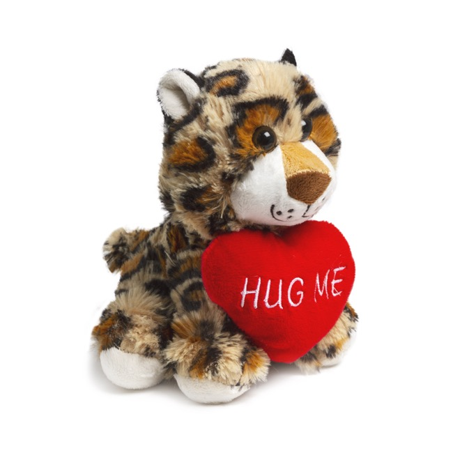 Valentines Teddy Bears - Norman Leopard with Heart (18cmST)