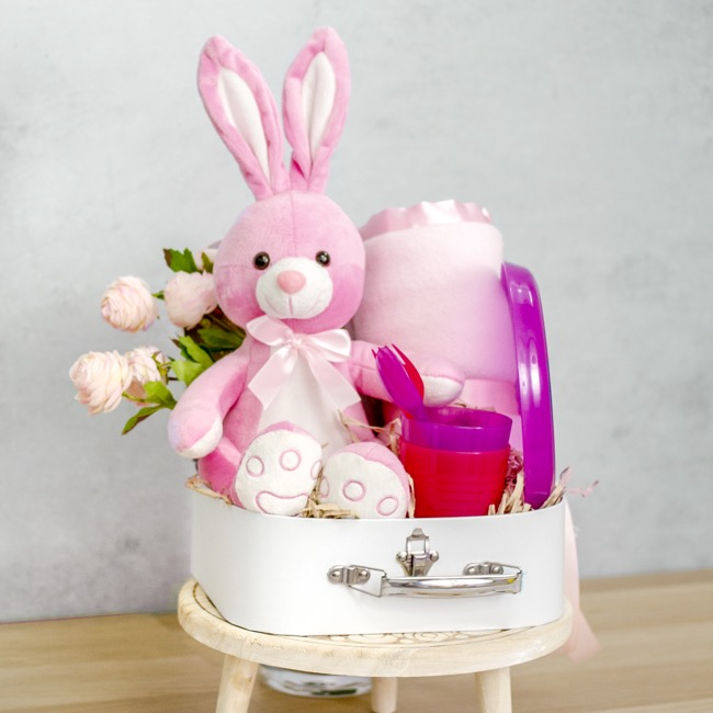 Farm Animal Soft Toys - Lily Bunny Pink (25cmST)