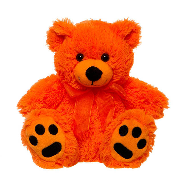 Roly Junior Brights Teddy Bear Orange (18cmST)