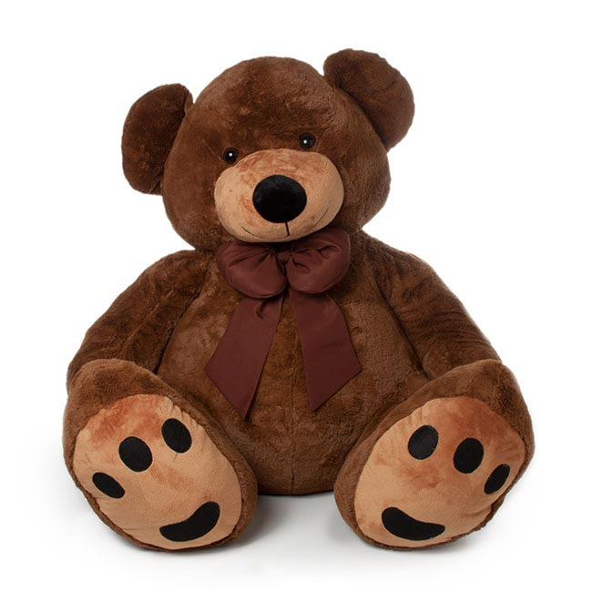 Roly Teddy Bear Extra Large Chocolate Brown (90cmST)