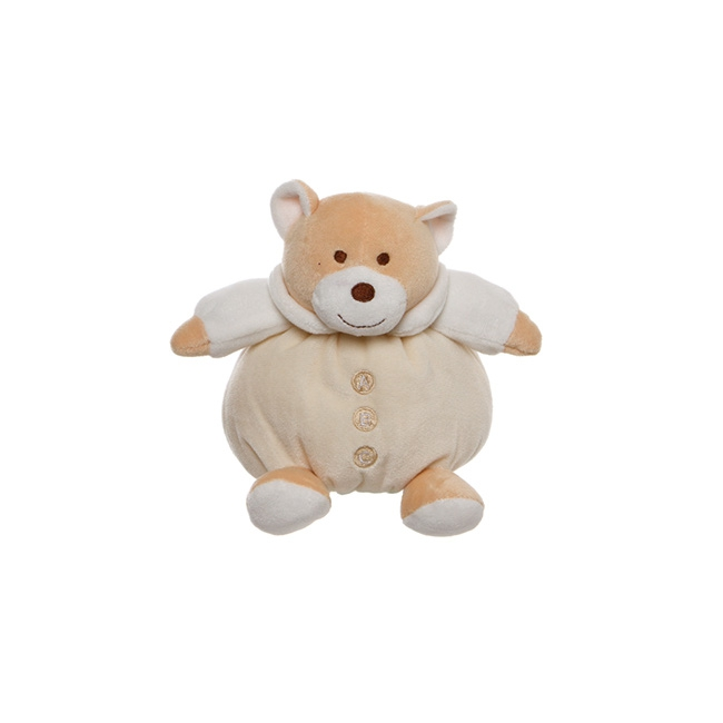 Snuggles Roly Poly Teddy Bear Cream (15cmST)