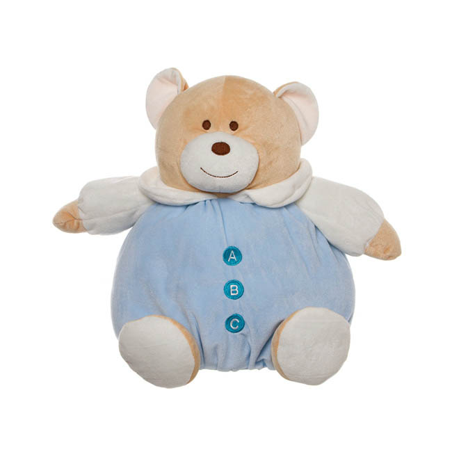 Snuggles Roly Poly Teddy Bear Blue (30cmST)
