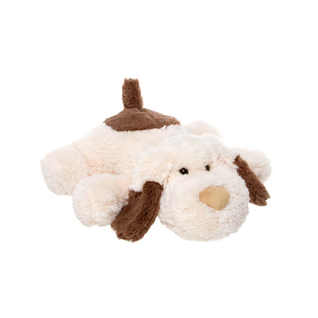Pooch Puppy Dog Laying down Cream Brown (35cm.HT)