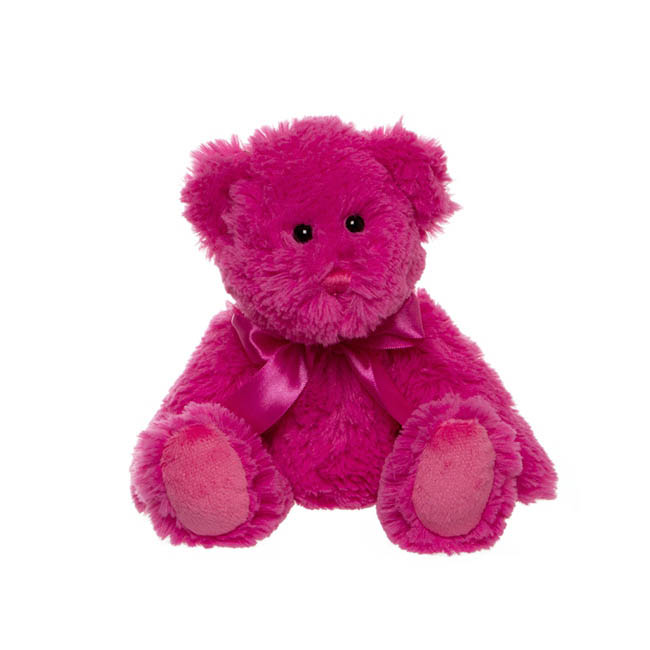 Jade Jointed Teddy Bear Hot Pink (25cmHT)