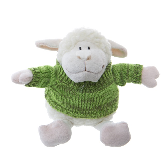 Easter Soft Toys - Sheep Lambert with Jumper White Green (25cmHT)