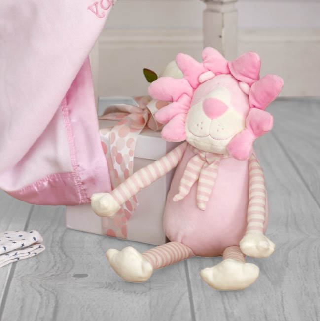Baby Teddy Bears - Lucy Lion Baby Pink (25cmHT)