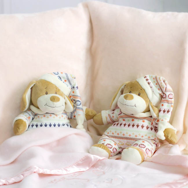 Baby Teddy Bears - Emma Puppy Dog with Hat Pink (22cmHT)