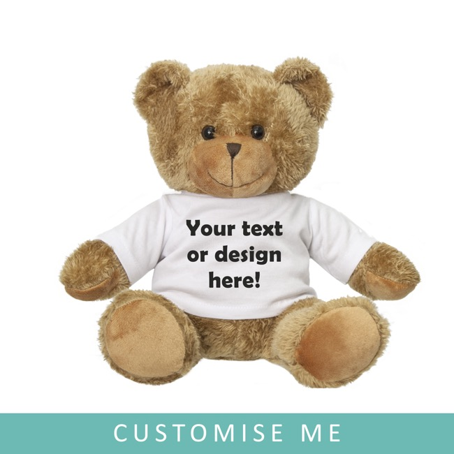Personalised Teddy Bears - Personalised Teddy Bear Brown (25cm ST)